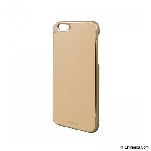 CAPDASE Karapace Jacket Apple iPhone 6 / iPhone 6S Posh Genuine Leather Case with Card Slot Gold - Beige - Casing Handphone / Case