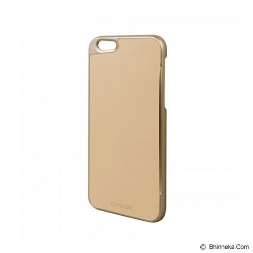 CAPDASE Karapace Jacket iPhone 6/6S Posh Genuine Leather Case with Card Slot - Gold Beige (Merchant) - Casing Handphone / Case