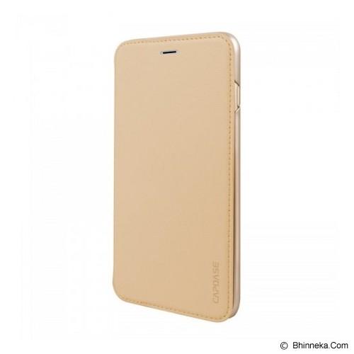 CAPDASE Flip Case Apple iPhone 6 / iPhone 6S Posh Genuine Leather Flip Case Gold - Beige - Casing Handphone / Case
