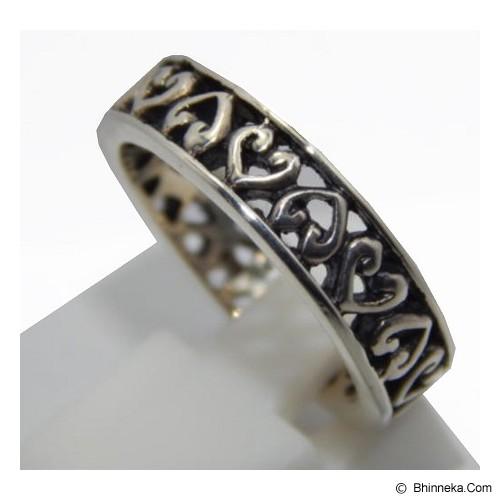 JNANACRAFTS Cincin Perak Motif Jantung [56333] - Cincin Pria