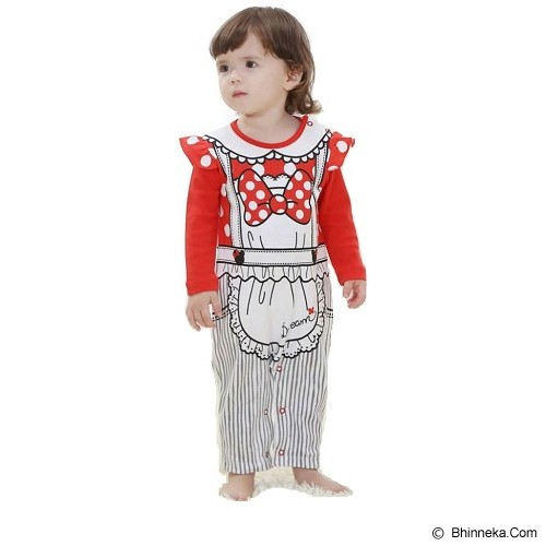 FIRST MOVEMENT Jumpsuit Koki Size 1-2Y - Red - Baju Bepergian/Pesta Bayi dan Anak