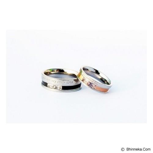 TITANIUM Cincin Couple Size 6(W) & 8(M) [CC009] - Cincin