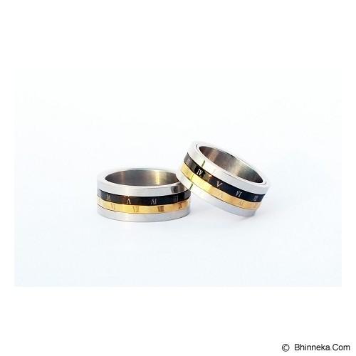 TITANIUM Cincin Couple Size 7(W) & 8(M) [CC022] - Cincin