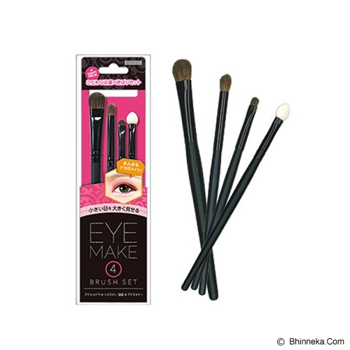 LUCKY TRENDY MAKEL Eye Make Brush Set [4P] - Natural Cute - Kuas Make-Up