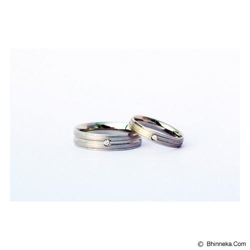 TITANIUM Cincin Couple Size 6(W) & 8(M) [CC038] - Cincin