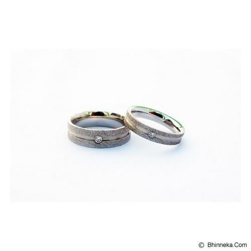 TITANIUM Cincin Couple Size 7(W) & 8(M) [CC046] - Cincin