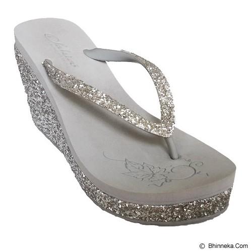 SAKIA Haiti Wedges Sandal Size 38 - Silver - Wedges Wanita