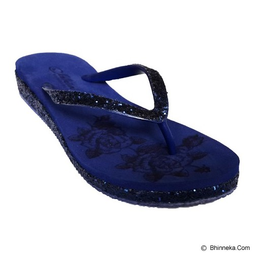 SAKIA Sandiego Wedges Sandal Size 36 - Navy - Wedges Wanita