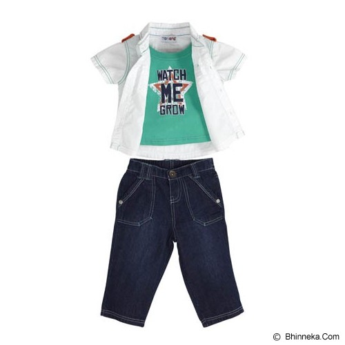 TORIO Stars & Stripes Stylish Denim Set Size 9-12M - Setelan / Set Bepergian/Pesta Bayi dan Anak