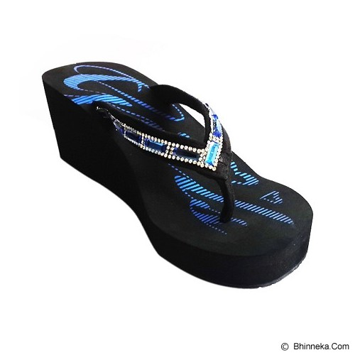 SAKIA Miami Wedges Sandal Size 39 - Blue - Wedges Wanita