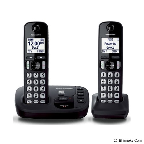 PANASONIC Cordless Phones [KX-TGD222] - Black - Wireless Phone