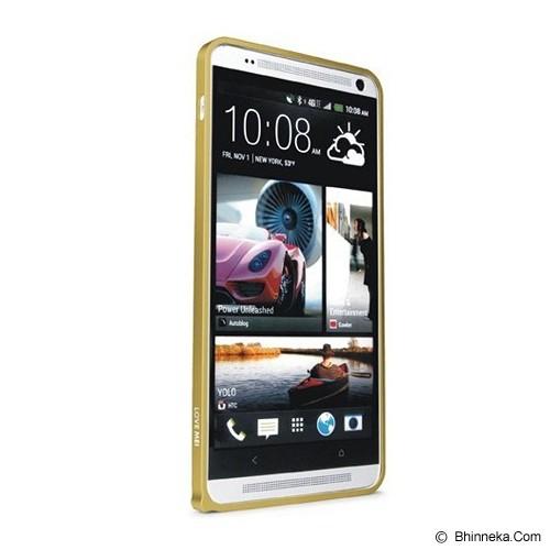 LOVE MEI Bumper HTC One Max - Champagne Gold - Casing Handphone / Case