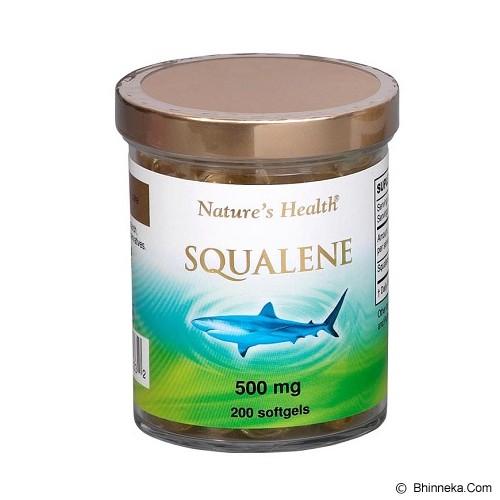 NATURE'S HEALTH Squalene 500Mg 200 Softgels - Suplement Penambah Daya Tahan Tubuh