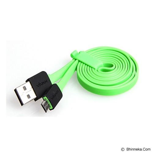 VIVAN Micro USB Cable [YM100] - Green (Merchant) - Cable / Connector Usb