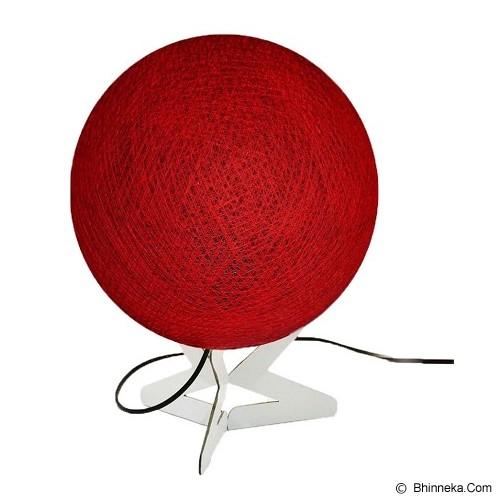MY JADE! STUFF Cotton Table Lamp - Dark Red - Lampu Meja