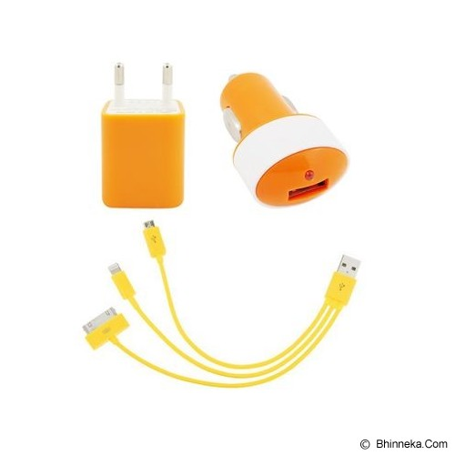 UNIQUE Charger Combo Radiant [CH-U-CR-OR] - Orange - Car Kit / Charger