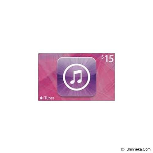 APPLE iTunes Gift Card 15$ Digital Code - Voucher Games
