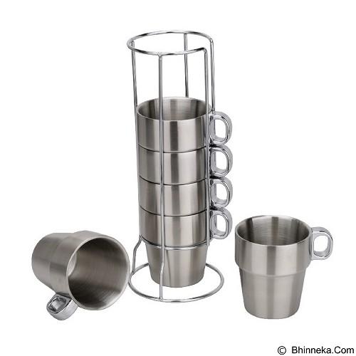 23 MART Coffee Cup Stainless Rak Set Isi 4 (Merchant) - Gelas