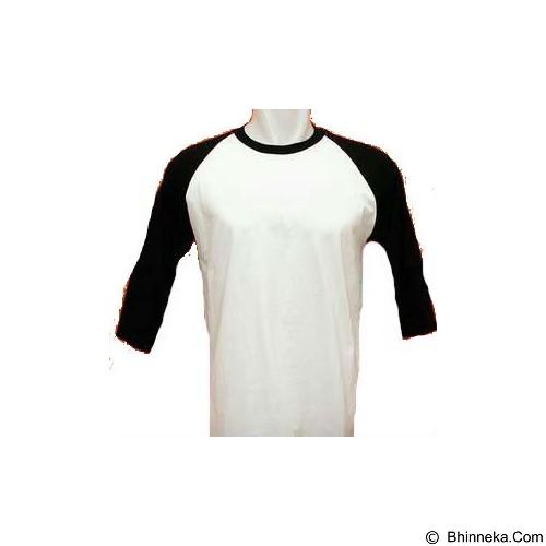 25STARSHOP Kaos Raglan Size XL - Black (Merchant) - Kaos Pria