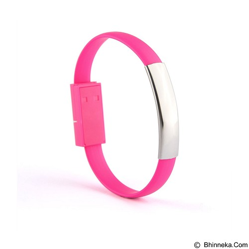 29 SELULER Bracelet Kabel Data Micro USB Gelang Multifungsi - Pink - Gadget Activity Device