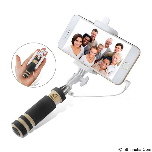 29 SELULER Tongsis Mini Kabel Holder Lipat For Smartphone - Black - Gadget Monopod / Tongsis