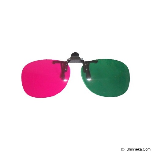 3D GLASSES Kacamata Clip On Green Magenta Polycarbonate 3D - Kacamata 3d