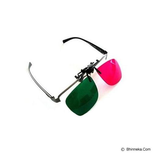 3D GLASSES Kacamata Clip On Green Magenta Polycarbonate 3D - Kacamata 3d