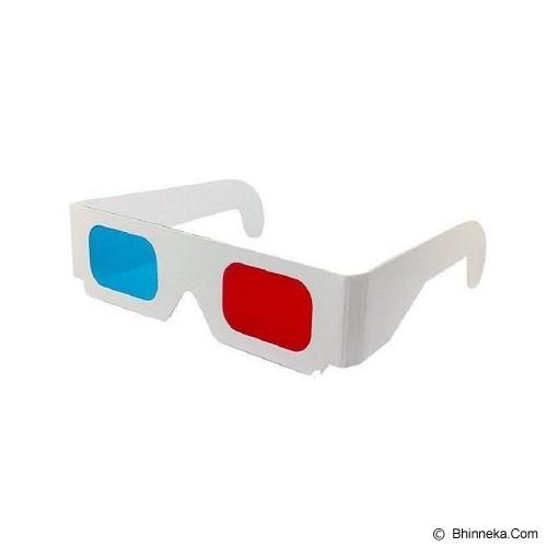 3D GLASSES Kacamata Karton Red Cyan - Kacamata 3d