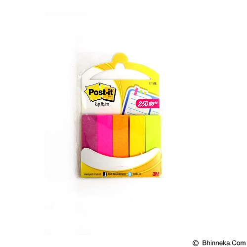 3M Post It Page Marker 671-5ANL Assorted - Kertas Pembatas Dokumen