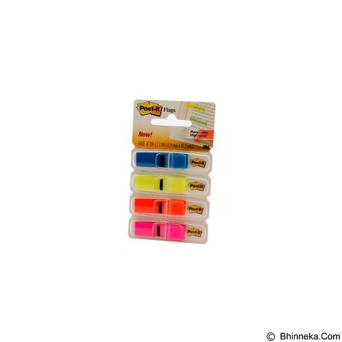 3M Post it 683-4 ABx Flags Small Pastel 4 Colors - Sticky Notes