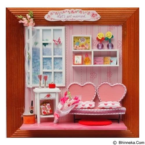 A1TOYS Miniature House DIY Art & Craft Let's Get Married Pigura (Merchant) - 3d Puzzle