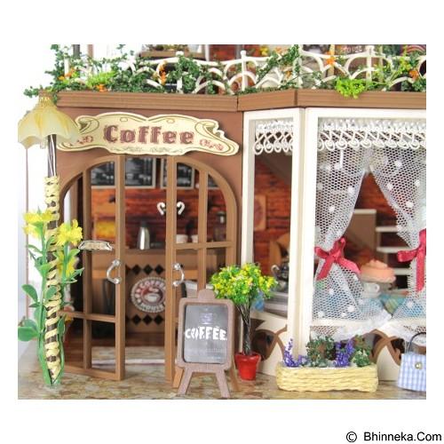 A1TOYS Rumah Rumahan DIY Cafe Hutan Lampu LED & Music RIM (Merchant) - 3d Puzzle