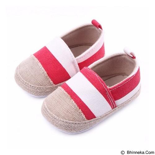ABBY BABY Stripe Shoes Size M - Red (Merchant) - Sepatu Anak