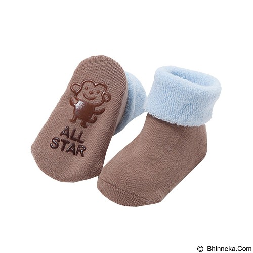 ABBY BABY Thick Cartoon Ankle Sock Monkey Size S (Merchant) - Kaos Kaki Bayi dan Anak