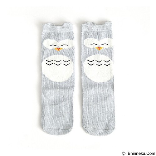 ABBY BABY Totoro High Knee Sock Size M - Light Grey (Merchant) - Kaos Kaki Bayi dan Anak