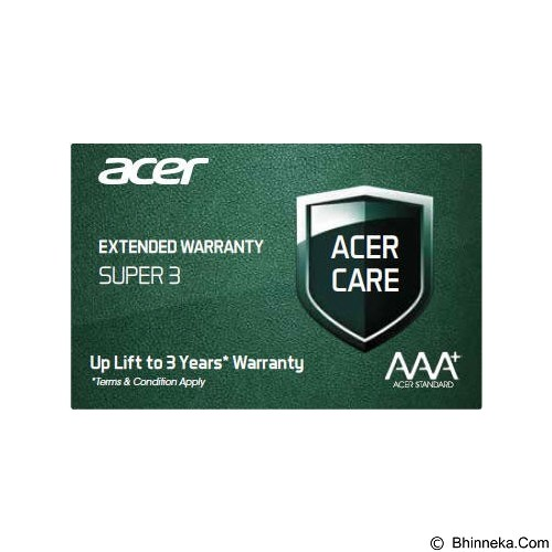 ACER Extended Warranty Super 3 [EW.SUPER.300] - Notebook Option Extended Warranty