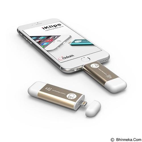 ADAM ELEMENTS iKlips Flash Drive 32GB [ADRAD32GKLPGD] - Gold - Usb Flash Disk Dual Drive / Otg