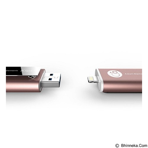 ADAM ELEMENTS iKlips Flash Drive 64GB [CC4714781444187] - Rose Gold - Usb Flash Disk Dual Drive / Otg