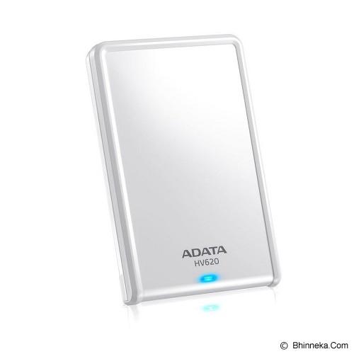 ADATA External Hard Drive 2TB [HV620] - White (Merchant) - Hard Disk External 2.5 Inch