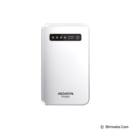 ADATA Powerbank 4200mAh [PV100] - White (Merchant) - Portable Charger / Power Bank
