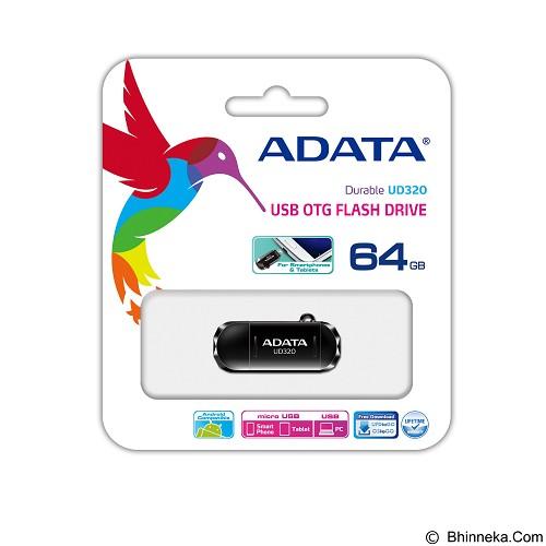 ADATA USB 2.0 OTG Flash Drive 64GB [UD320] - Black (Merchant) - Usb Flash Disk Dual Drive / Otg