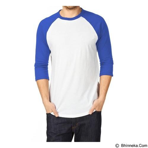 ADHERA CLOTHING Kaos T-shirt Size XXL [regputbir-xxl] - White Blue - Kaos Pria