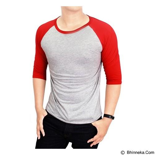 ADHERA CLOTHING Reglan Size 3XL [regabmmer-3xl] - Silver Red - Kaos Pria