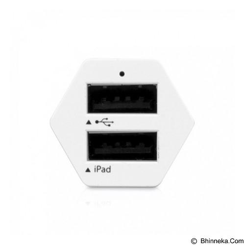 AHHA 2 USB Charger Pillar Spedy 3.4A [A-CA00-0602] - White (Merchant) - Car Kit / Charger