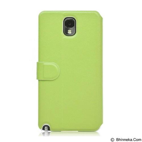 AHHA Leather Case Samsung Galaxy Note 3 Flip Arias Magic - Green - Casing Handphone / Case