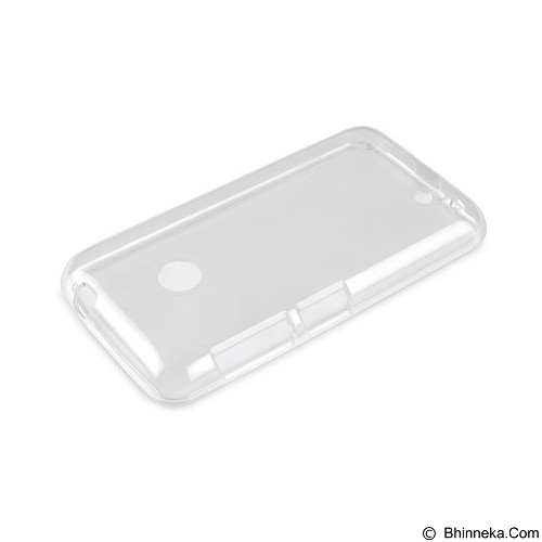 AHHA Moya Gummishell Clear Case for Nokia Lumia 530 - White (Merchant) - Casing Handphone / Case