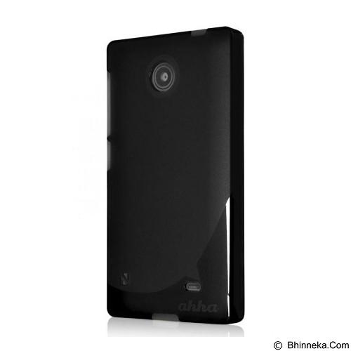 AHHA Moya Gummishell Nokia X Dual Sim Solid [A-GSNKX-0MY1] - Black Soft Case - Casing Handphone / Case