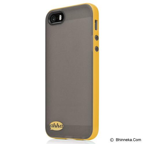 AHHA Soft Case Lulla Tonemix Apple iPhone 5/5s - Black/Yellow - Casing Handphone / Case