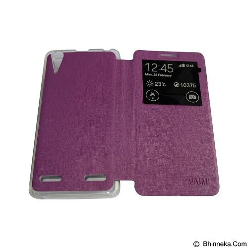 AIMI Flip Cover Fitur View for Lenovo A6000 [K3] - Purple (Merchant) - Casing Handphone / Case