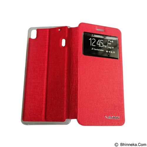 AIMI Flip Cover Fitur View for Lenovo A7000 [K3 Note] - Red (Merchant) - Casing Handphone / Case